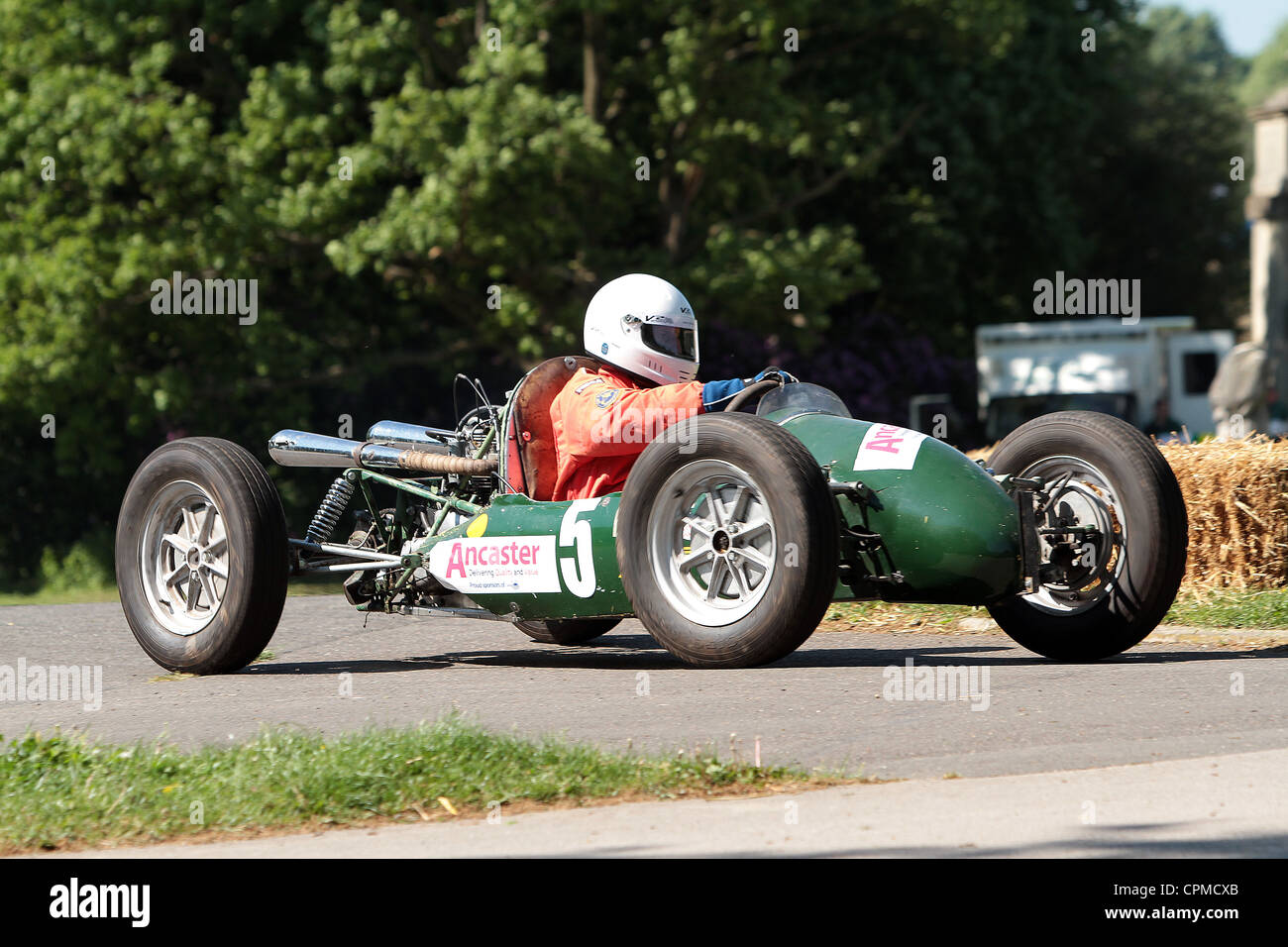 Motorsport at the Palace, Car sprint challenge at Crystal Palace - Stock Image