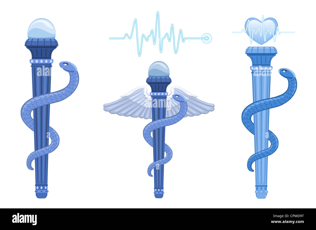 Caduceus Staff Of Hermes Stock Photos Caduceus Staff Of Hermes