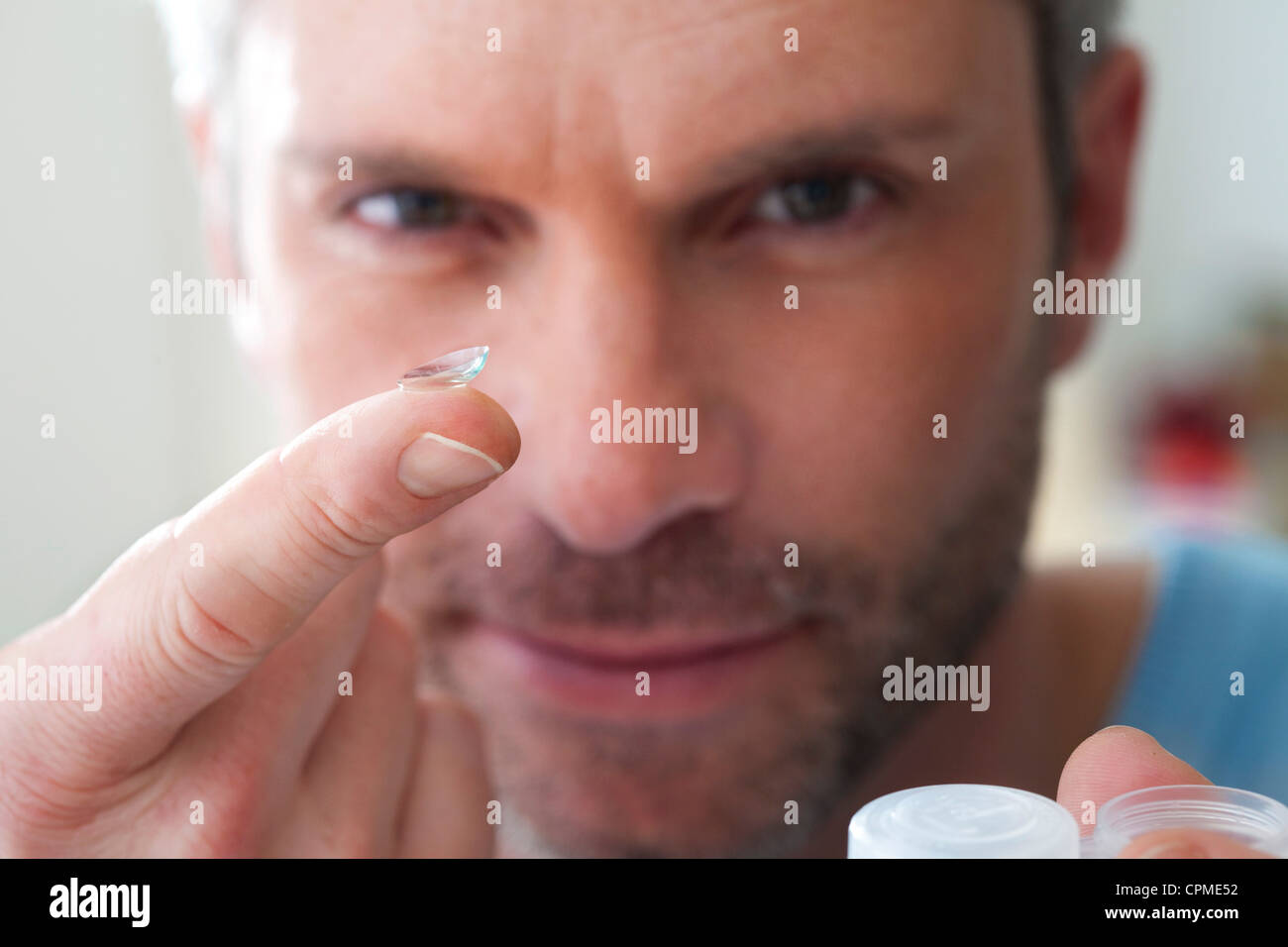 CONTACT LENS - Stock Image