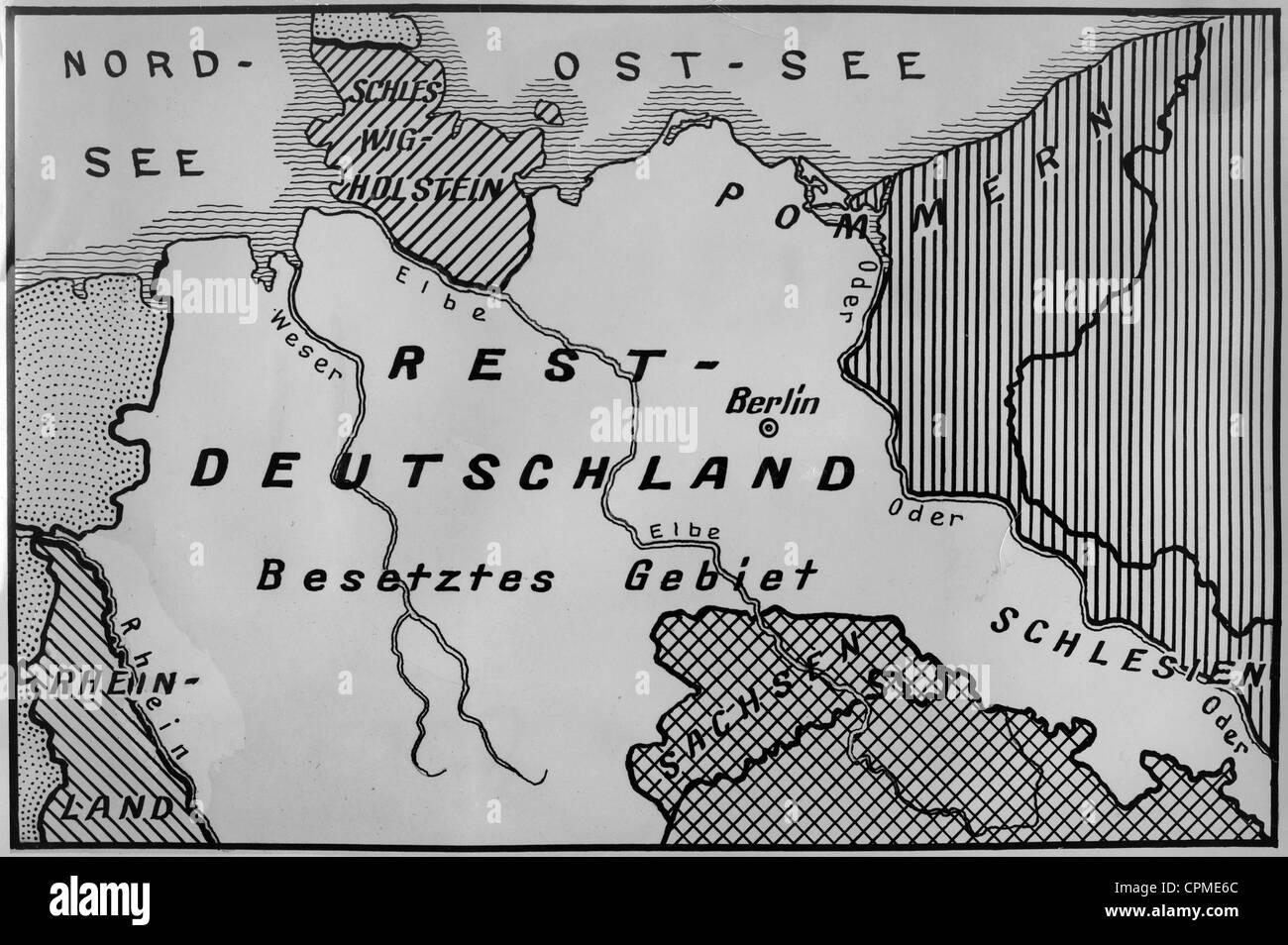 Map Of Restdeutschland Rump Germany 1939 Stock Photo 48393364