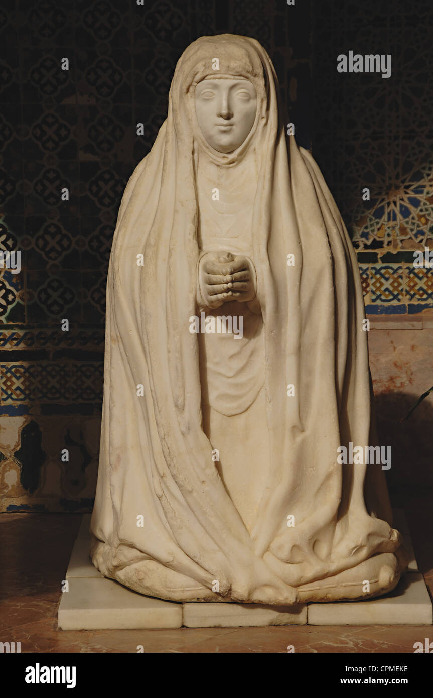 Spain. Andalusia. Seville. Monastery of Our Lady of the Caves. Leonor Cabeza de Vaca. Sculpture. - Stock Image