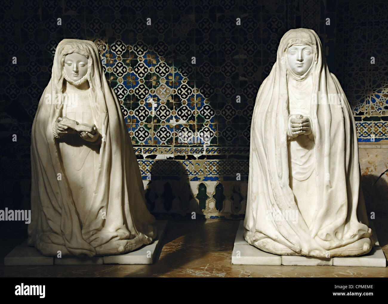 Spain. Andalusia. Seville. Monastery of Our Lady of the Caves. Beatriz Portocarrero and Leonor Cabeza de Vaca. - Stock Image