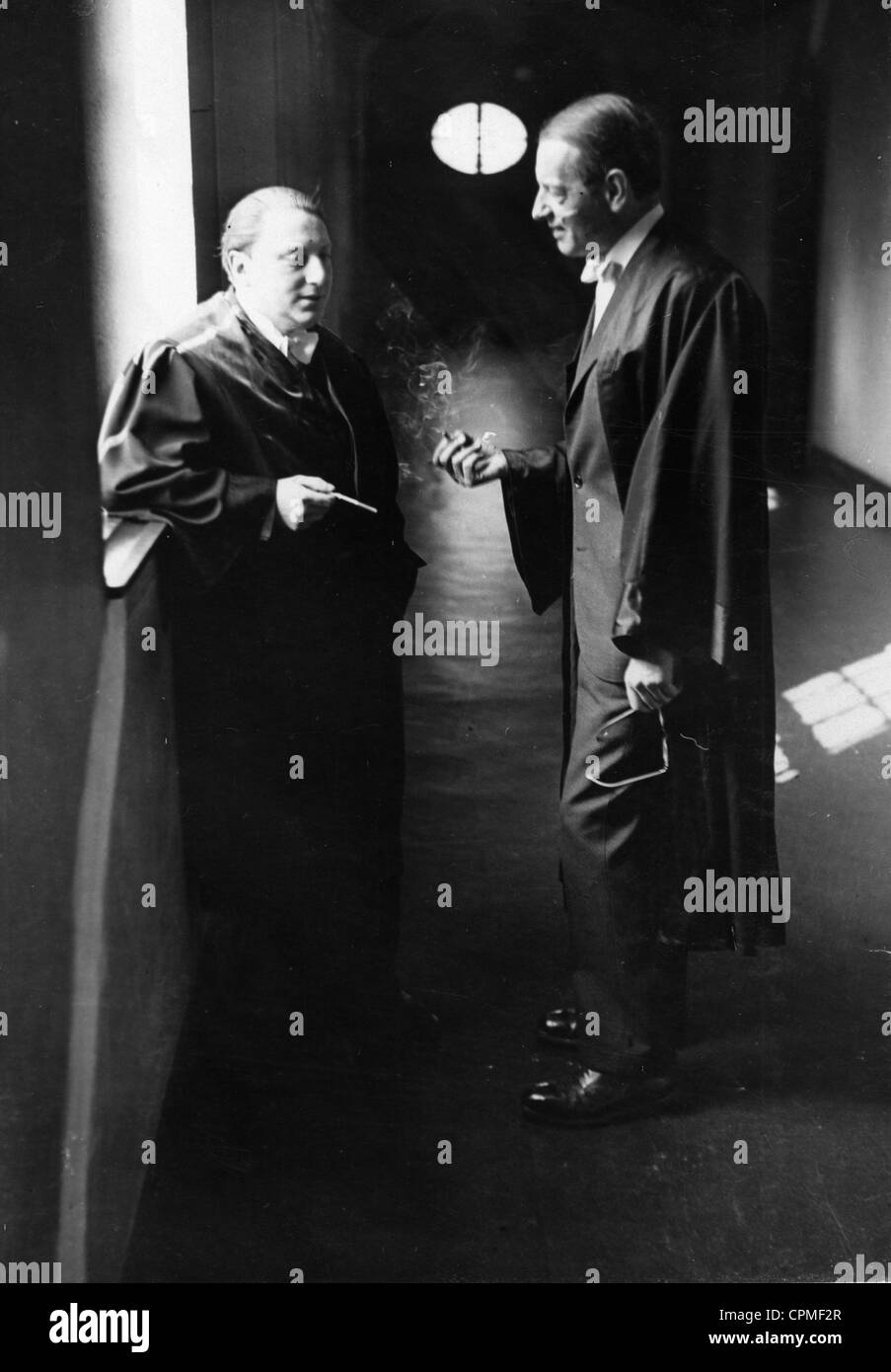 Gerhard Wilk and Rudolf Olden, 1931 - Stock Image