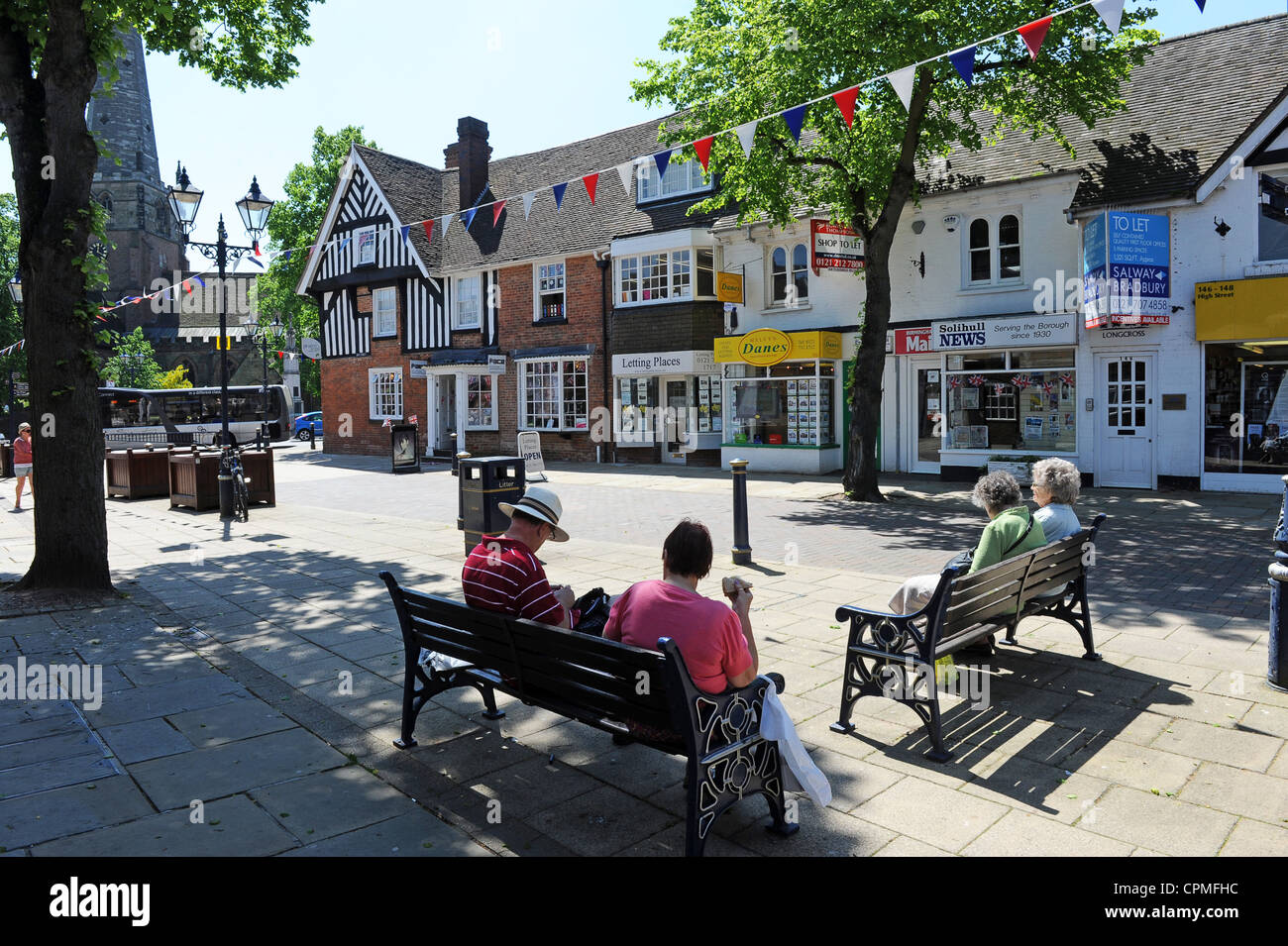 Solihull town centre Uk Stock Photo