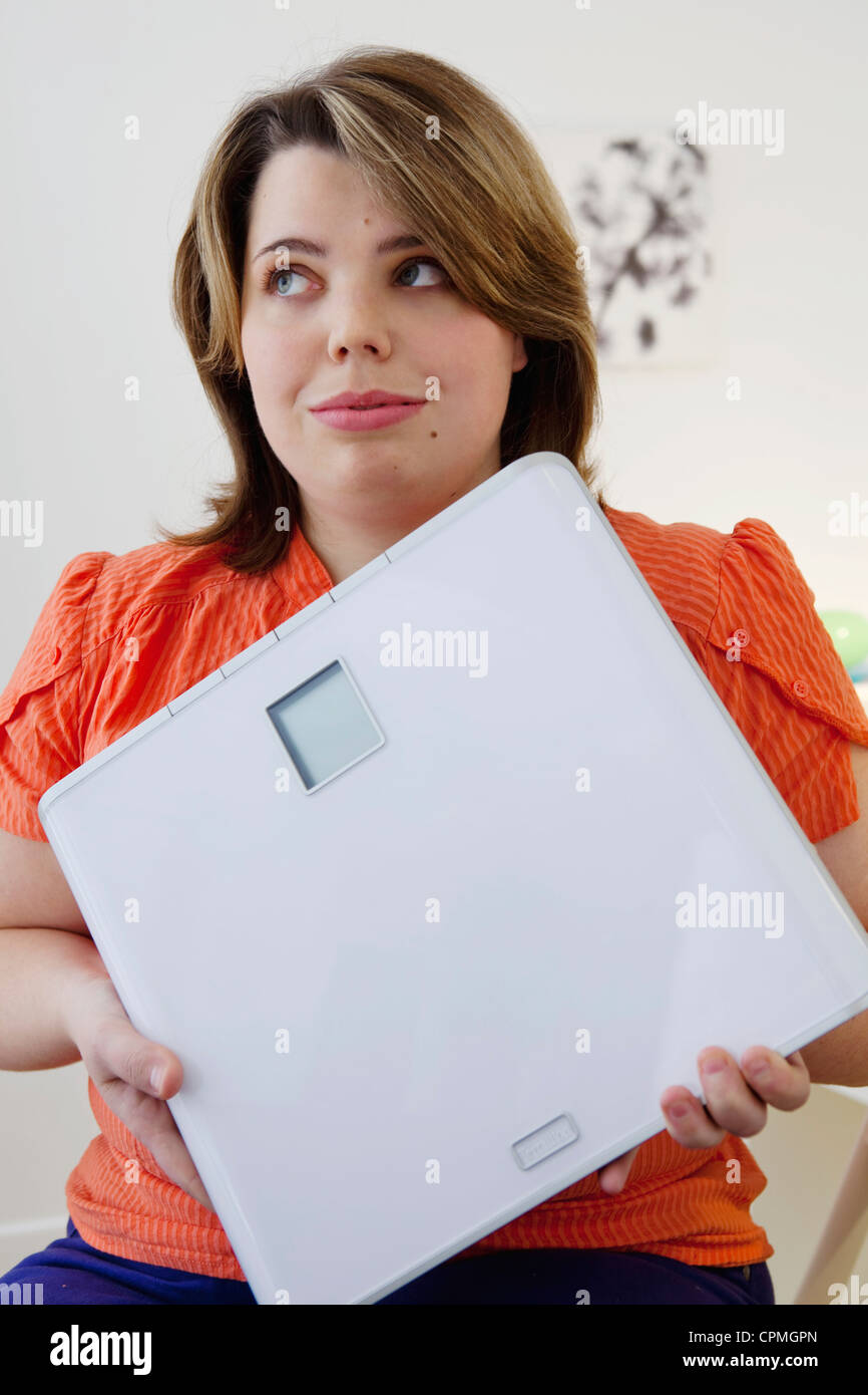 WEIGHT, WOMAN - Stock Image