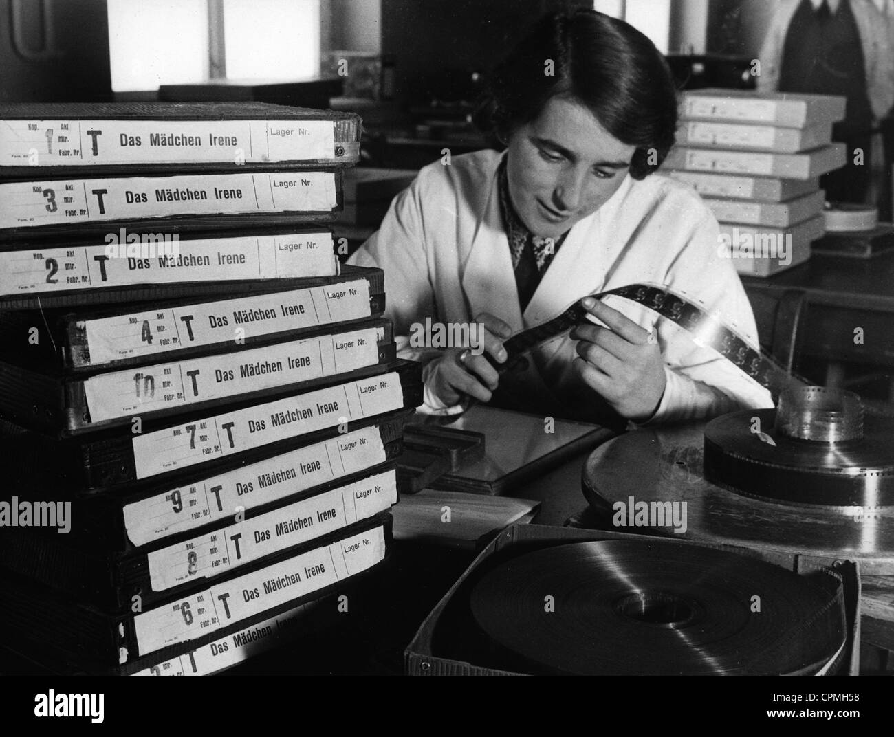 Film laboratory, 1936 - Stock Image