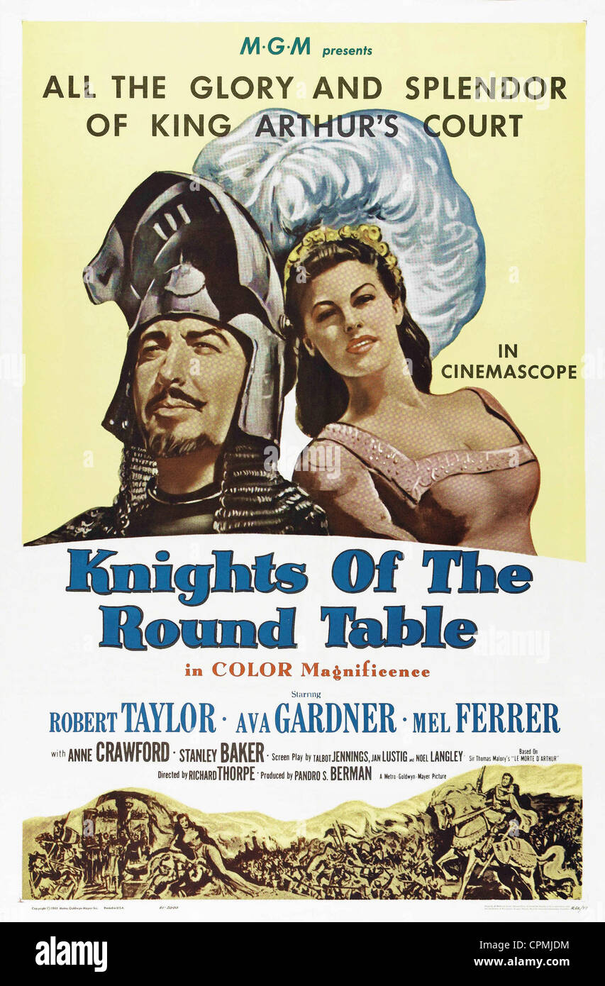 Knights of the Round Table - Stock Image