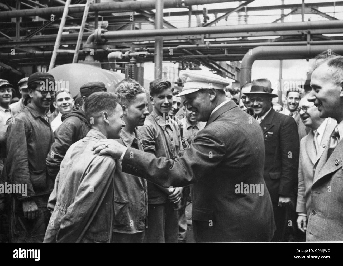 Hermann Goering in the Ruhr region, 1939 - Stock Image