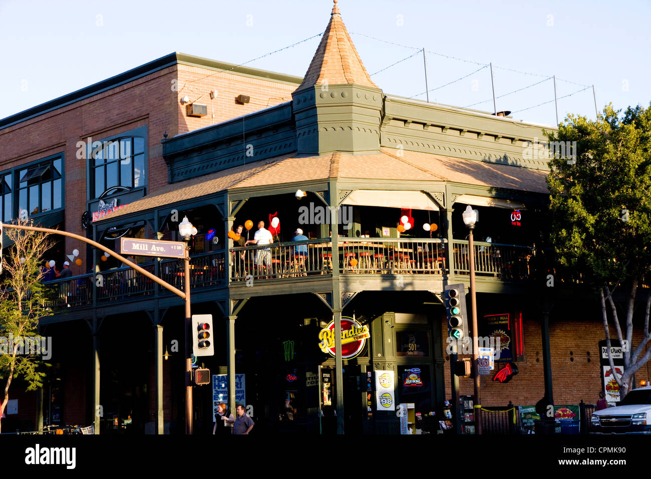 Shops Restaurants Mill Avenue Tempe Az Usa Stock Photo