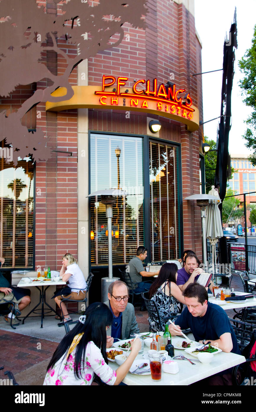 Outdoor Dining At P F Chang S Mill Avenue Tempe Az Usa