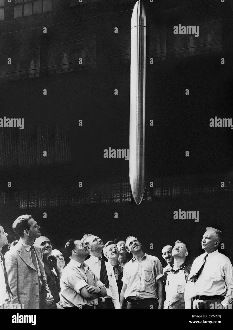 Employees visit a 'time capsule', 1938 Stock Photo