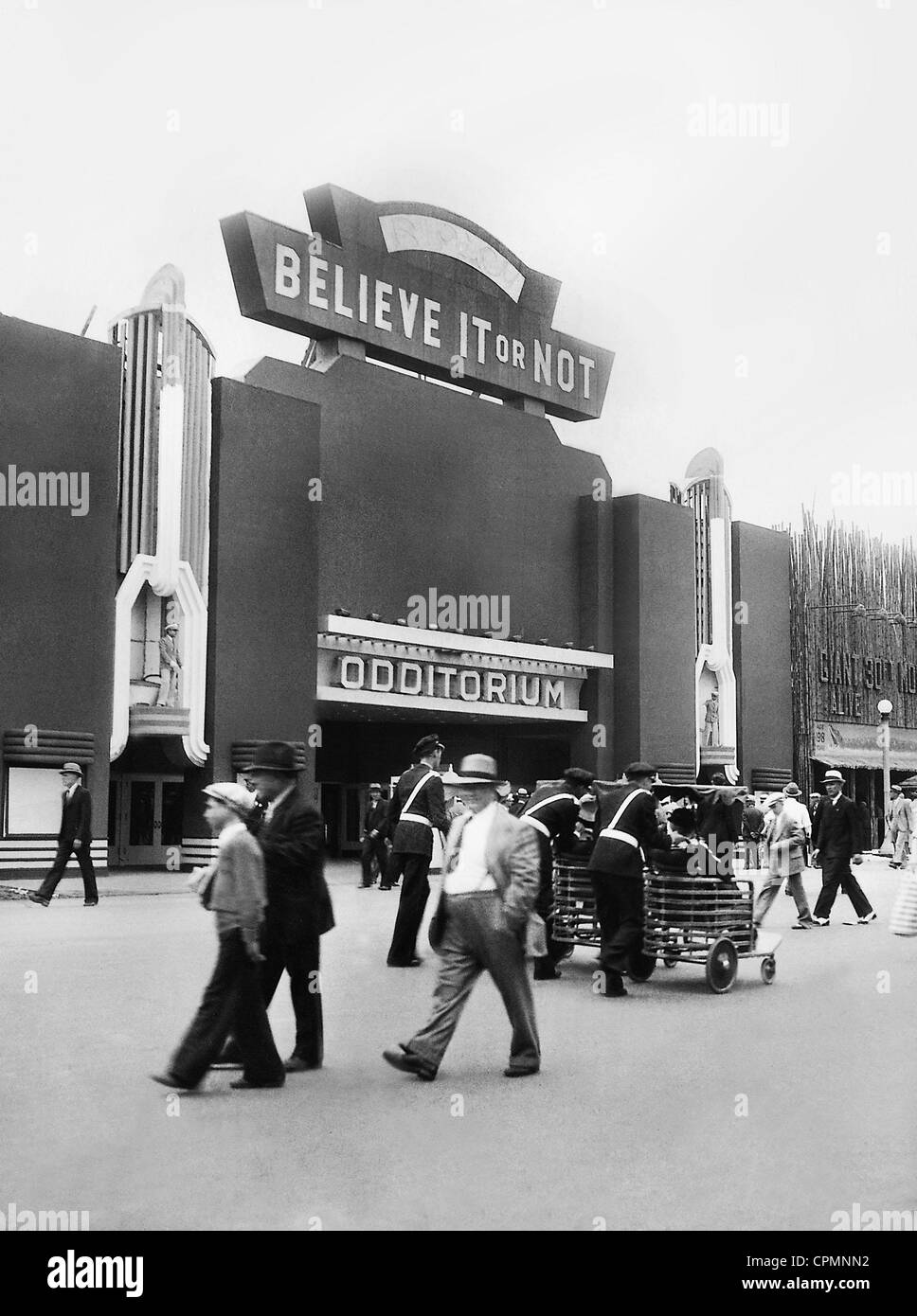 Curiosities gallery at the World Exhibition in Chicago, 1933 - Stock Image
