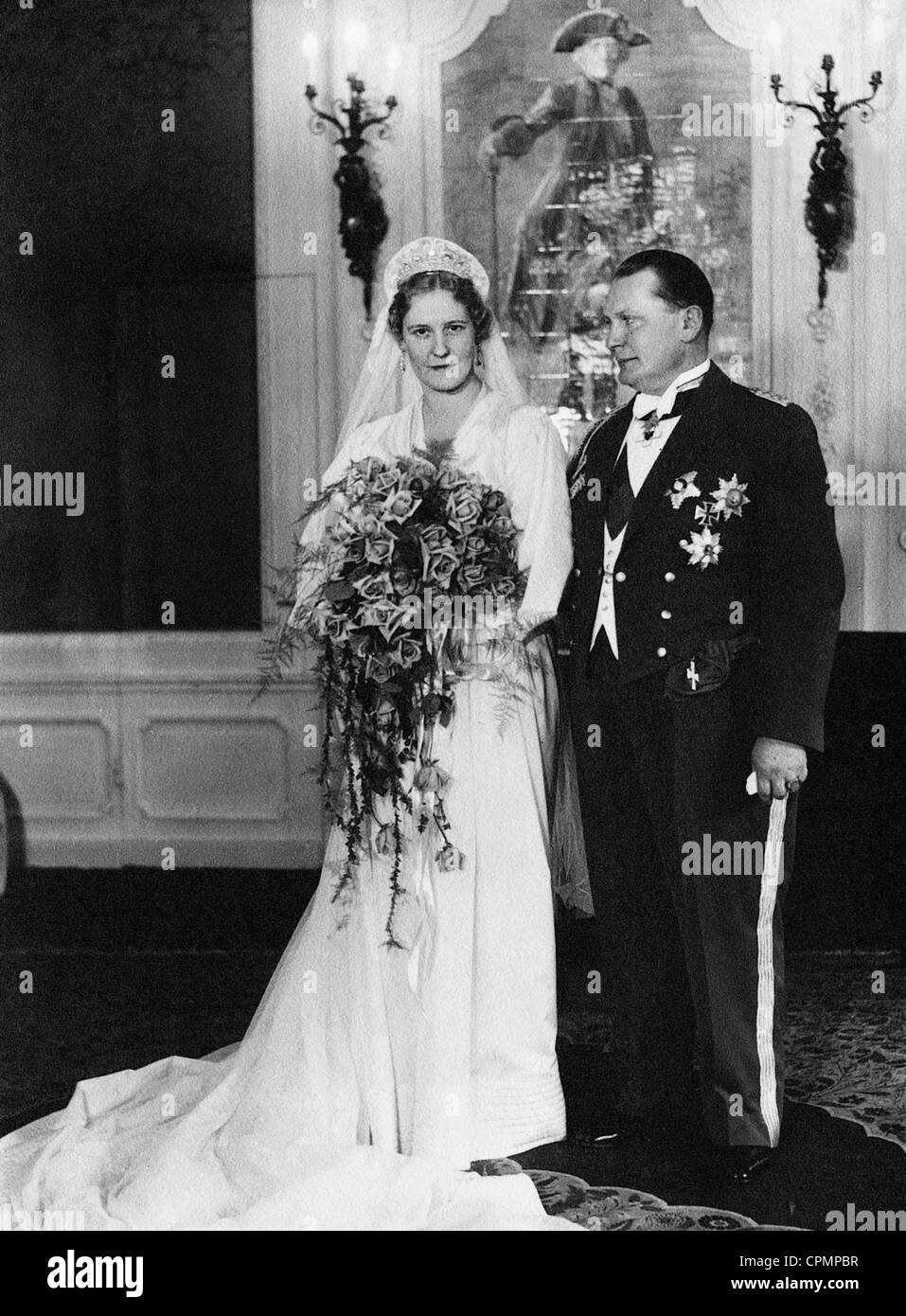 Hermann Goring with wife Emmy Goring, born Emmy Sonnemann, 1935 Stock Photo