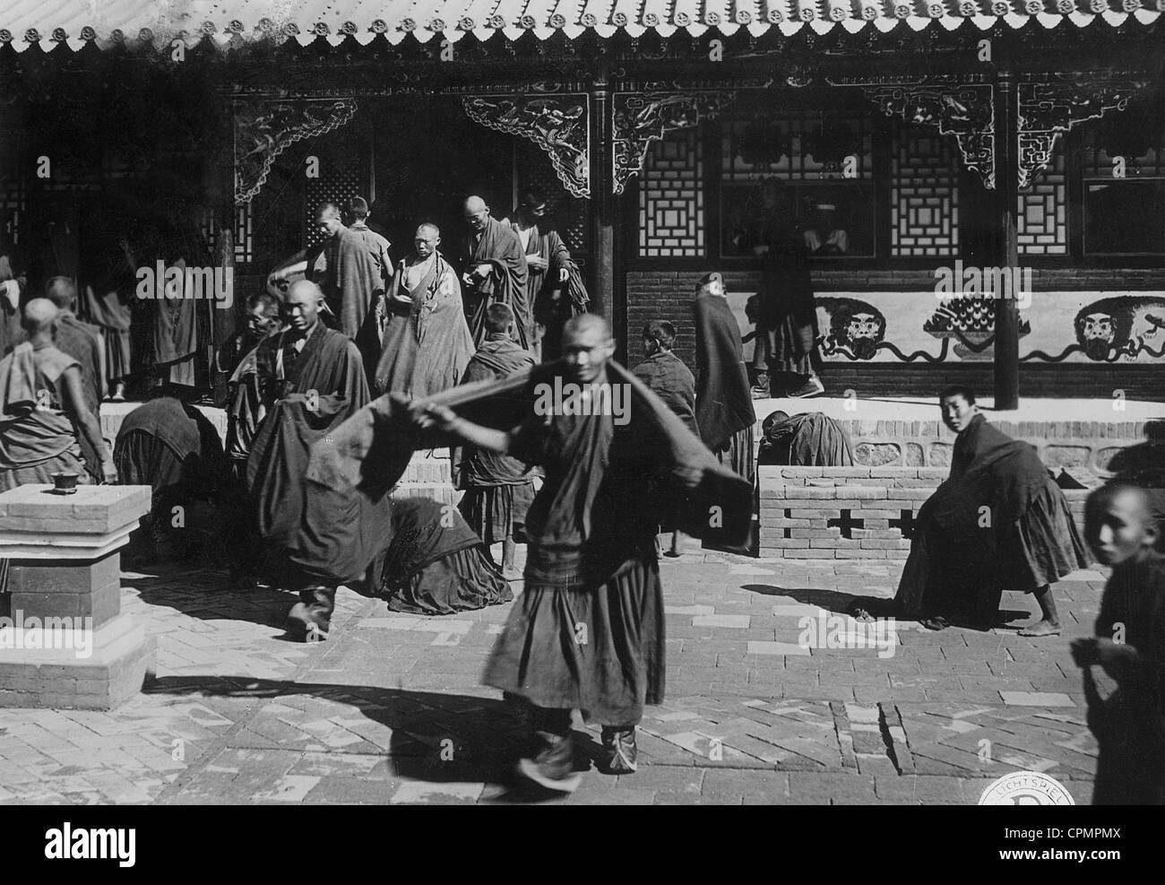 Priest of the Lamaism (Tibetan Buddhism) - Stock Image