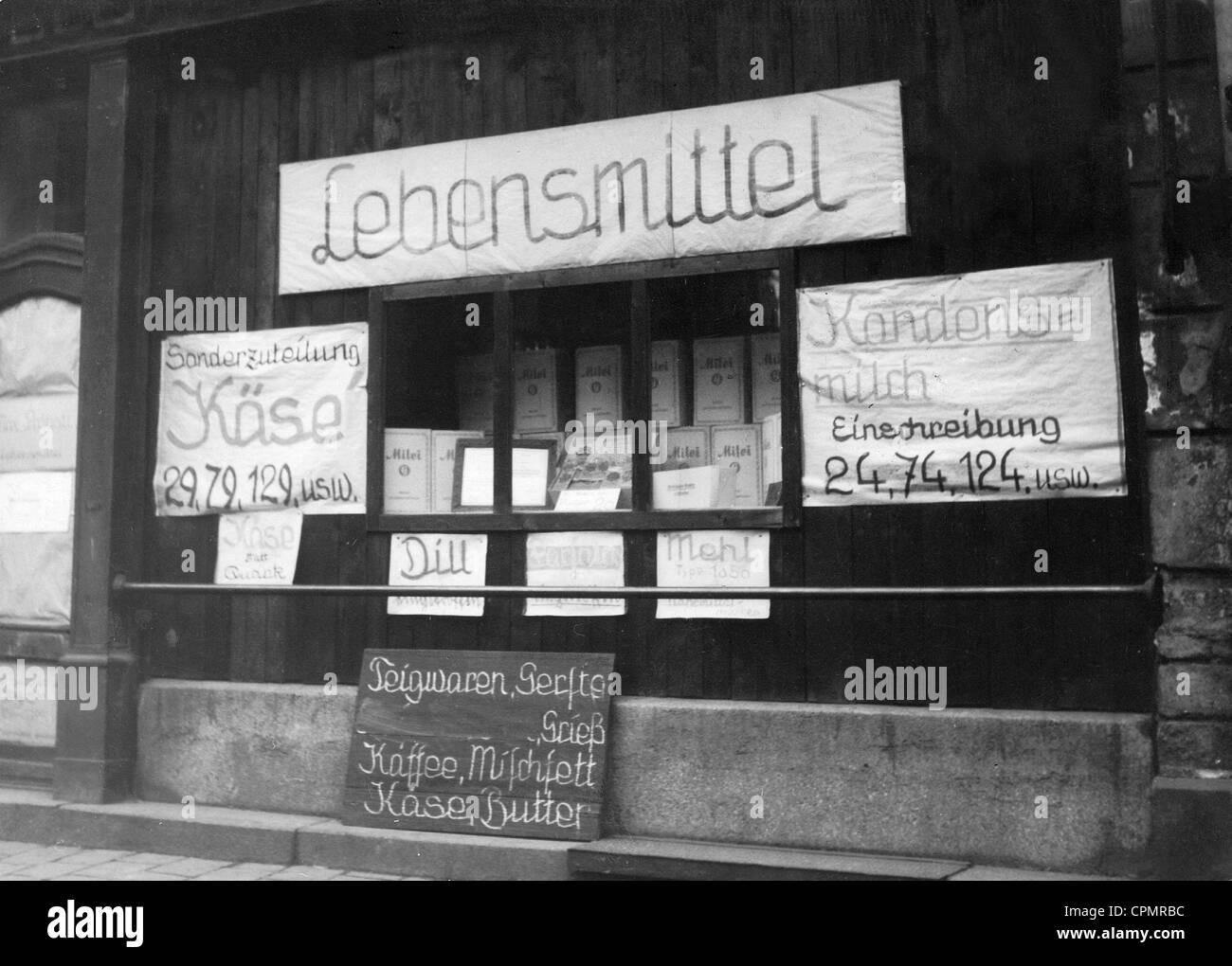 Food supply in Germany during the Second World War - Stock Image