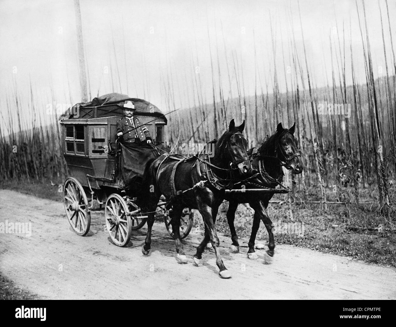 Postal carriage, 1907 - Stock Image