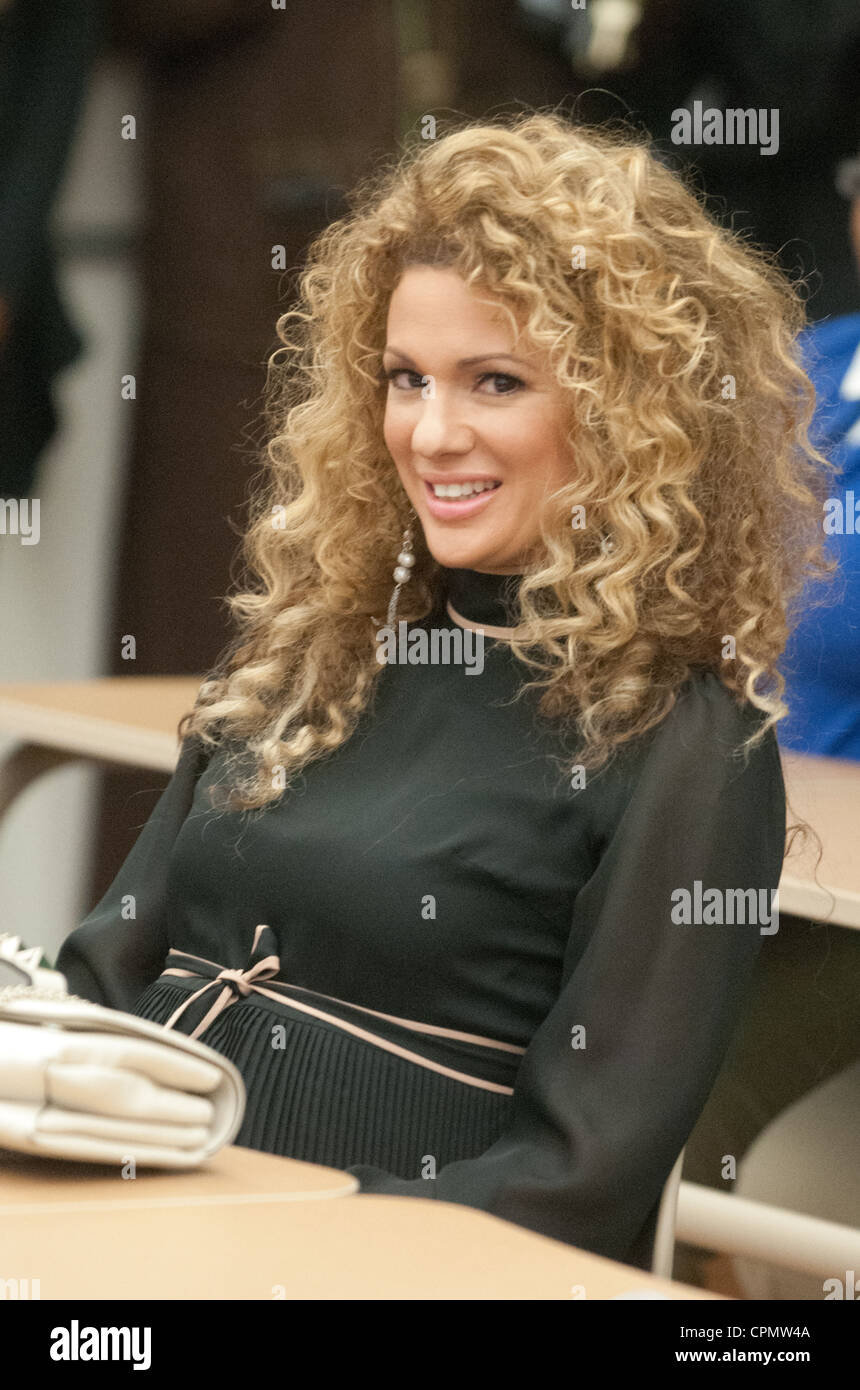 Miri Ben-Ari speaks during a Women's History Mentoring Event at Eastern High School in Washington D.C - Stock Image