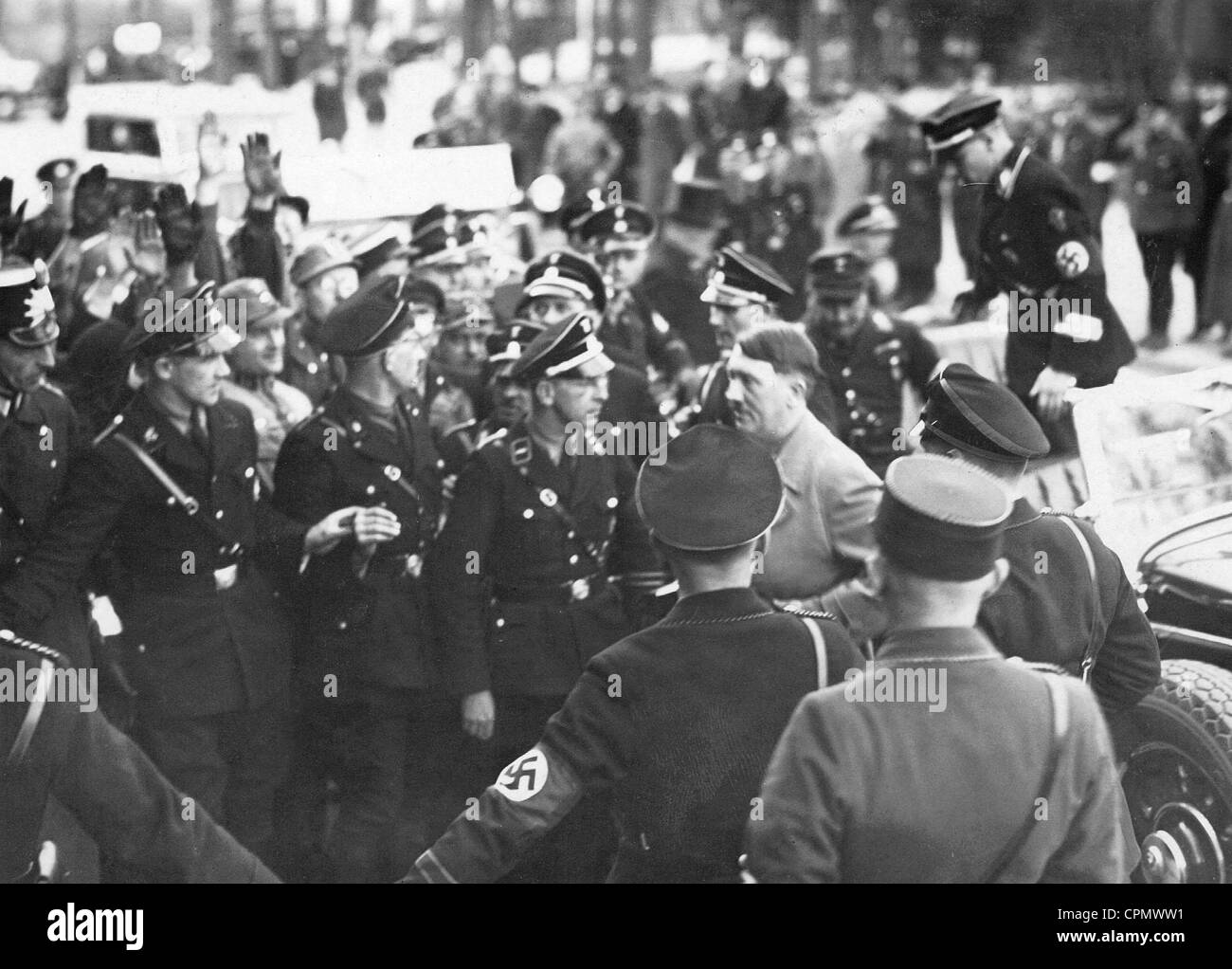 Adolf Hitler on his way to the Reichstag, 1934 - Stock Image