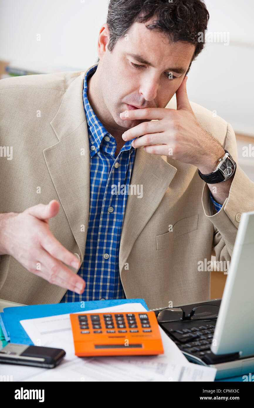 OFFICE WORKER - Stock Image