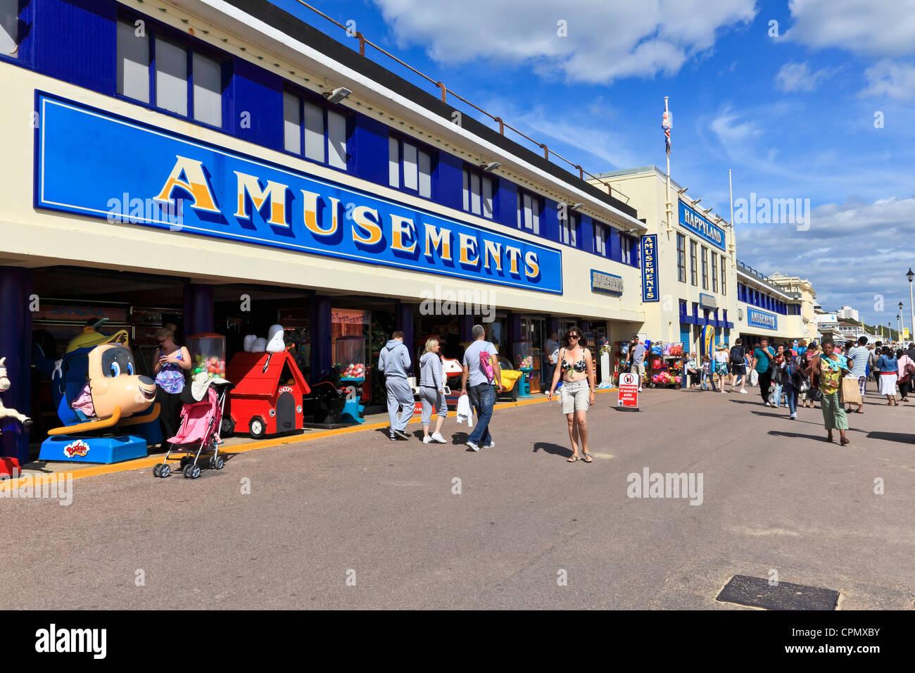 3962. Promenade Amusements, Bournemouth, Dorset, UK - Stock Image