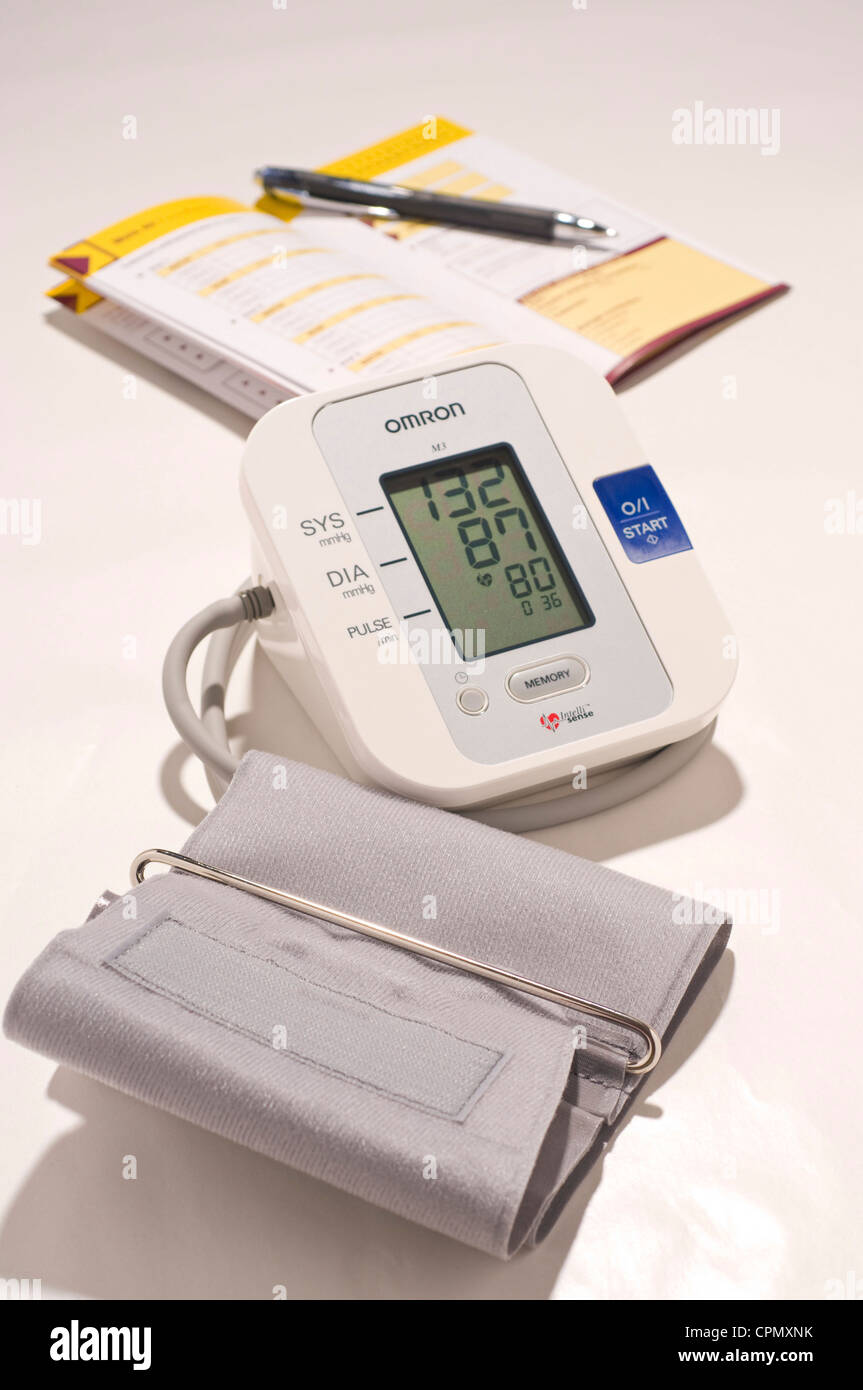 DIGITAL SPHYGMOMANOMETER - Stock Image