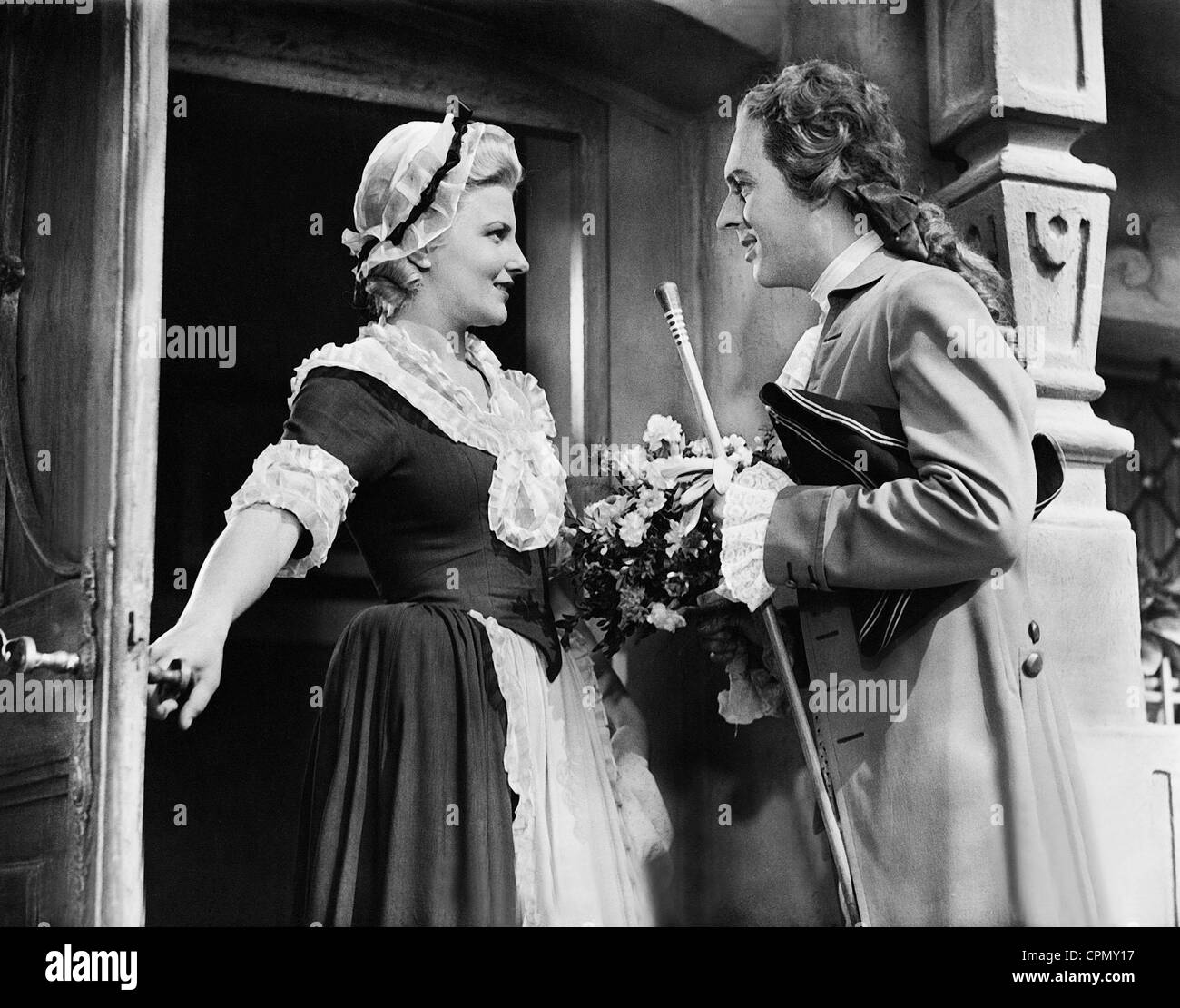 Winnie Markus and Hans Holt in 'Whom the Gods Love', 1942 - Stock Image