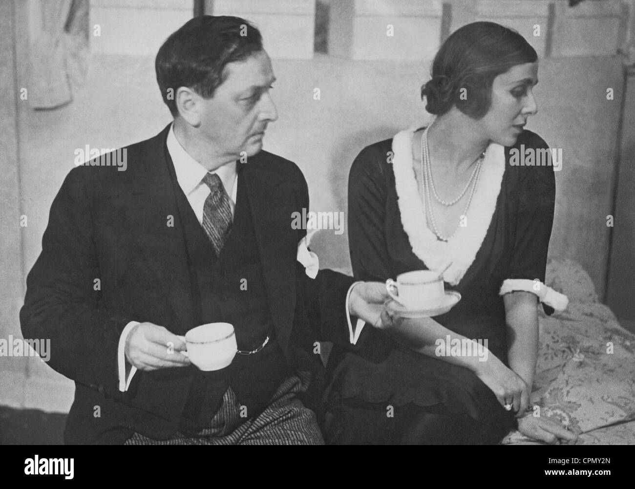Hans Moser and Lili Darres in 'Pariser Platz 13' in the chamber theater at the Deutsches Theater, 1931 - Stock Image