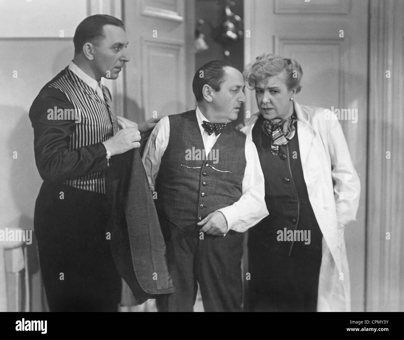Theo Lingen, Hans Moser and Ida Wuest in 'Seven Years Hard Luck', 1940 Stock Photo