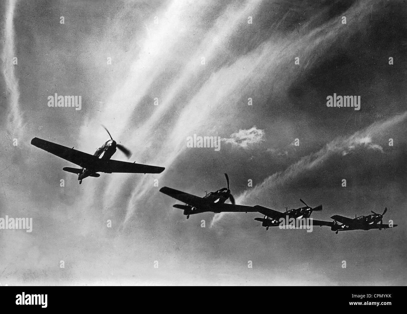 Messerschmitt Me 109 Planes, 1940 - Stock Image