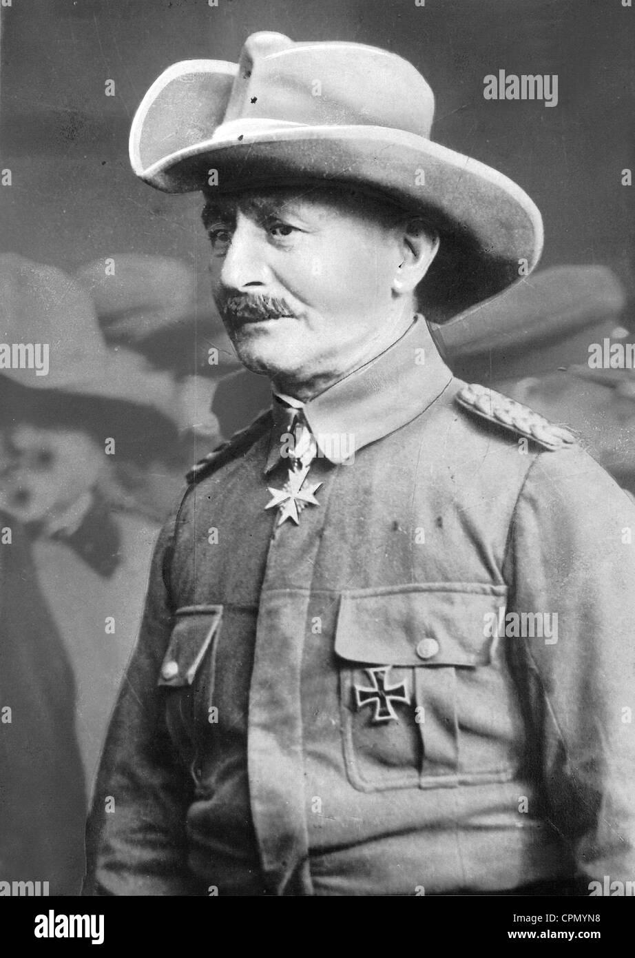 Paul von Lettow-Vorbeck, 1928 - Stock Image