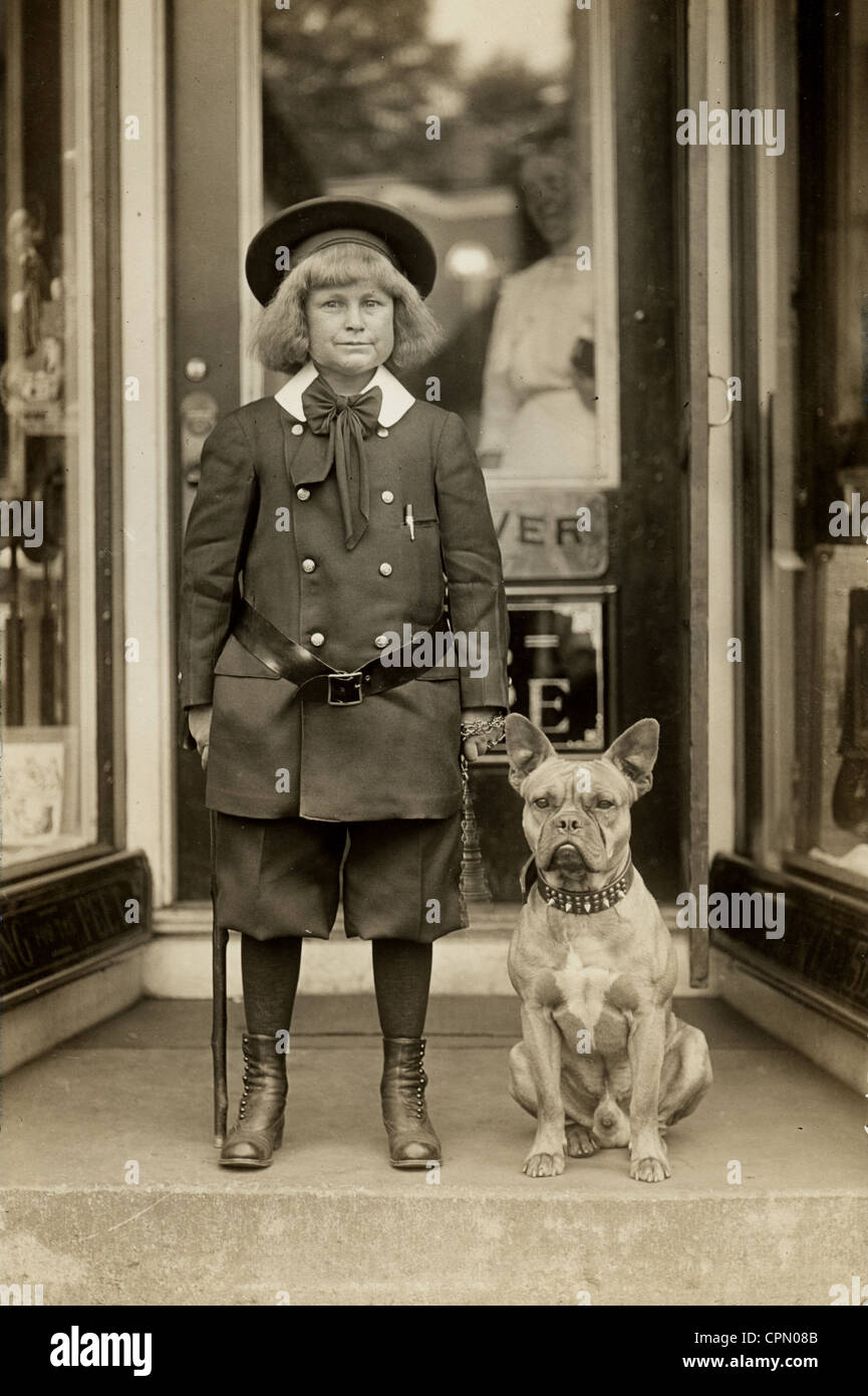 Buster Brown & His Dog Tige - Stock Image