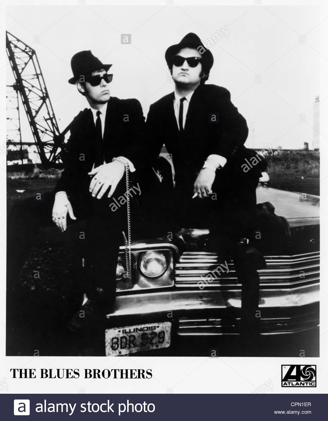 circa 1980's: The Blues Brothers (L-R: Dan Aykroyd and John Belushi. Editorial use only. - Stock Image