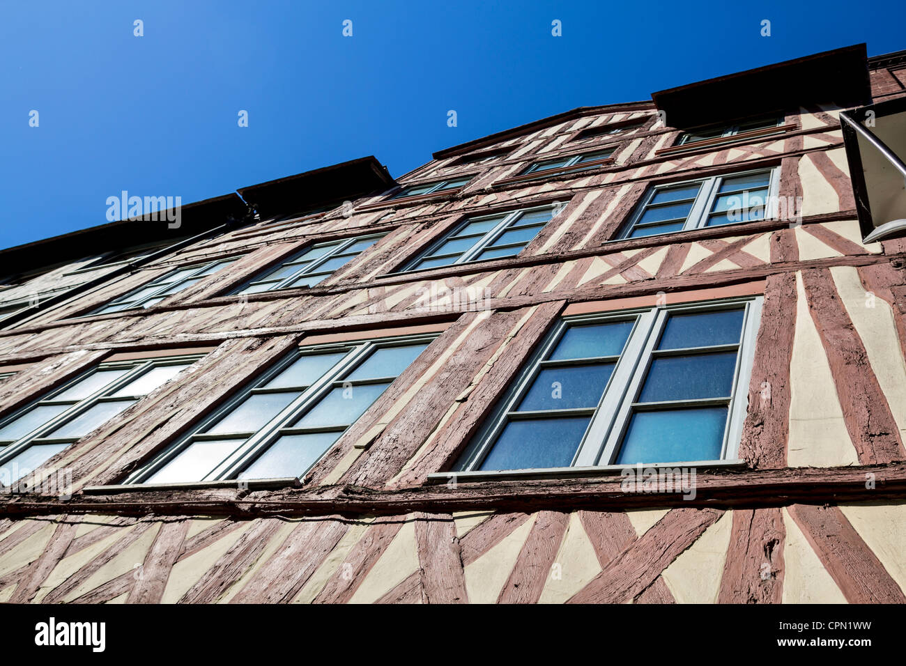 Half-timbered house in Rouen, France - Stock Image