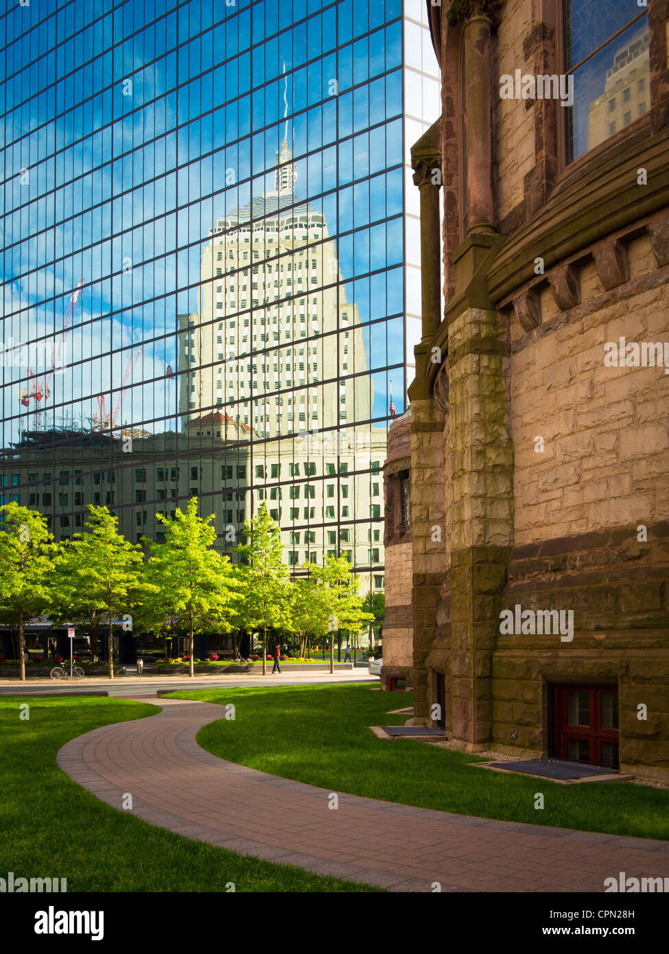 Buildings at Boston' s Copley Place - Stock Image