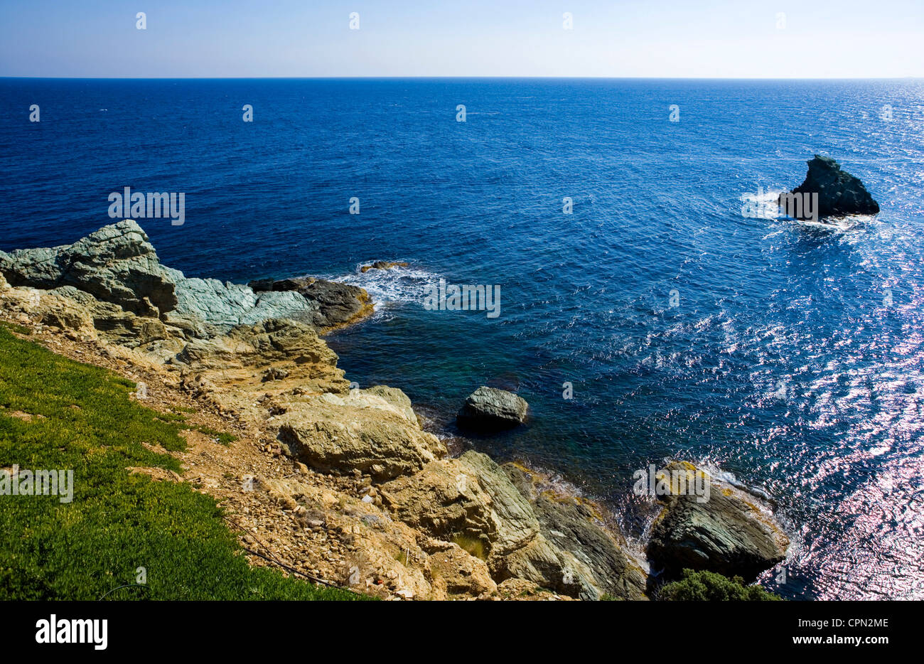Europe Greece, Crete, tha Agia Pelagia bay - Stock Image