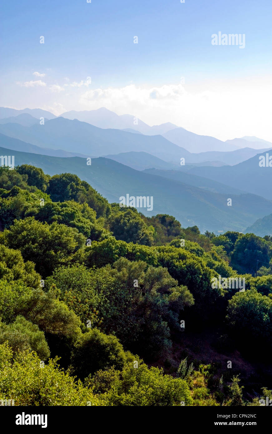 Europe Greece, Crete, the mountainous hinterland of Agia Pelagia - Stock Image