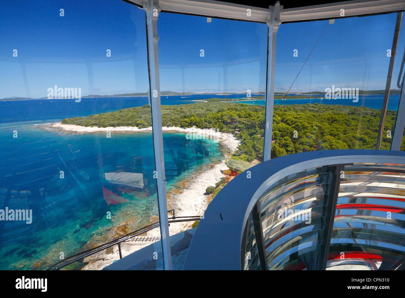 Veli rat Lighthouse - Dugi otok, Croatia A view from the Lighthouse Veli Rat - Stock Image