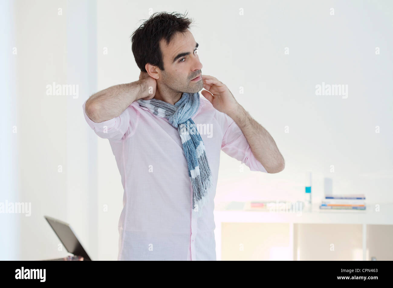 CERVICALGIA IN A MAN - Stock Image