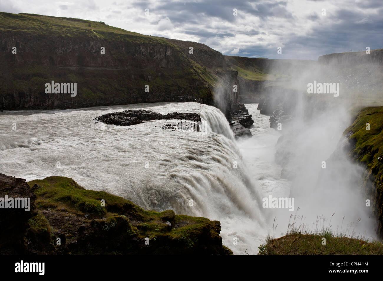 Gullfoss waterfall, Iceland - Stock Image