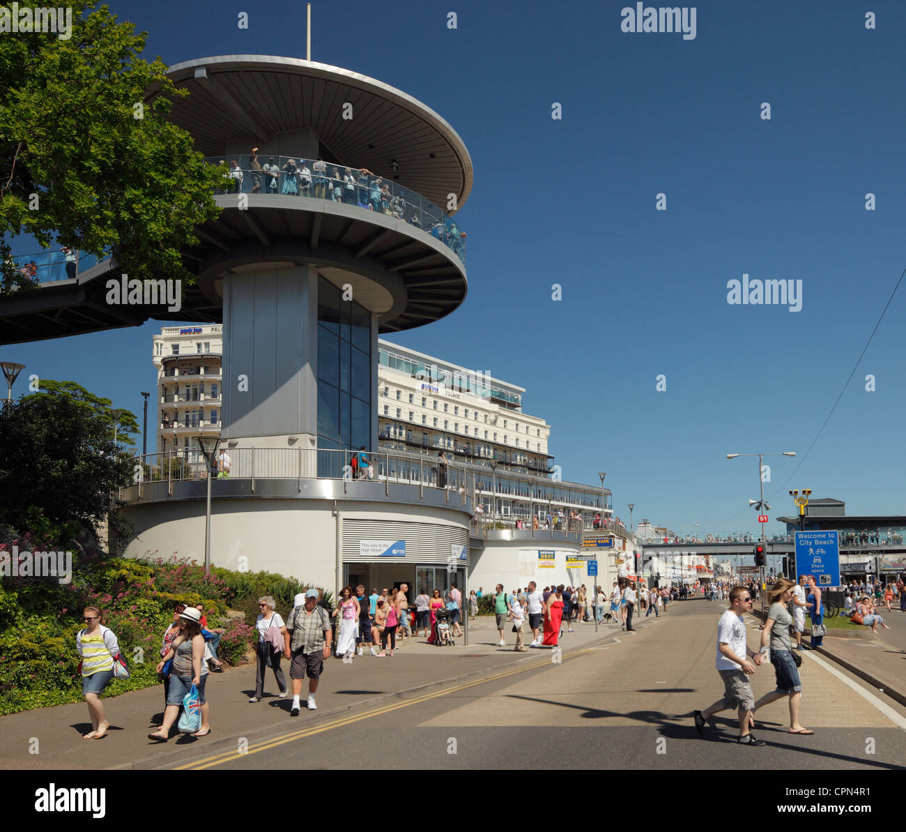 Pier Hill Lifts, Southend on Sea. - Stock Image