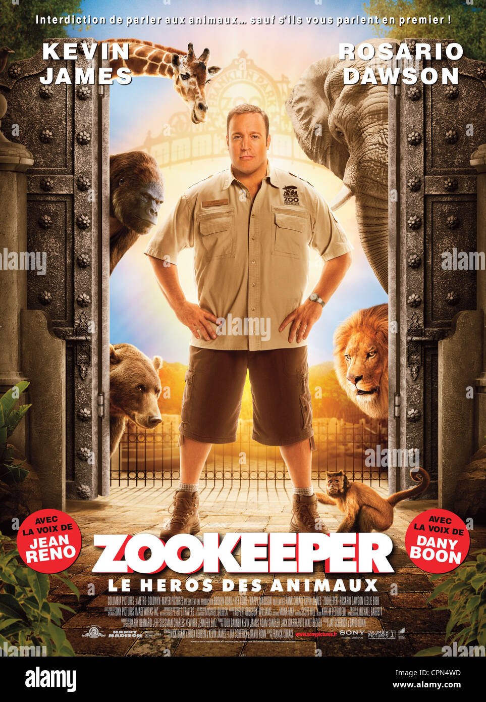 Zookeeper Movie Poster 2011 Stock Photos & Zookeeper Movie ...