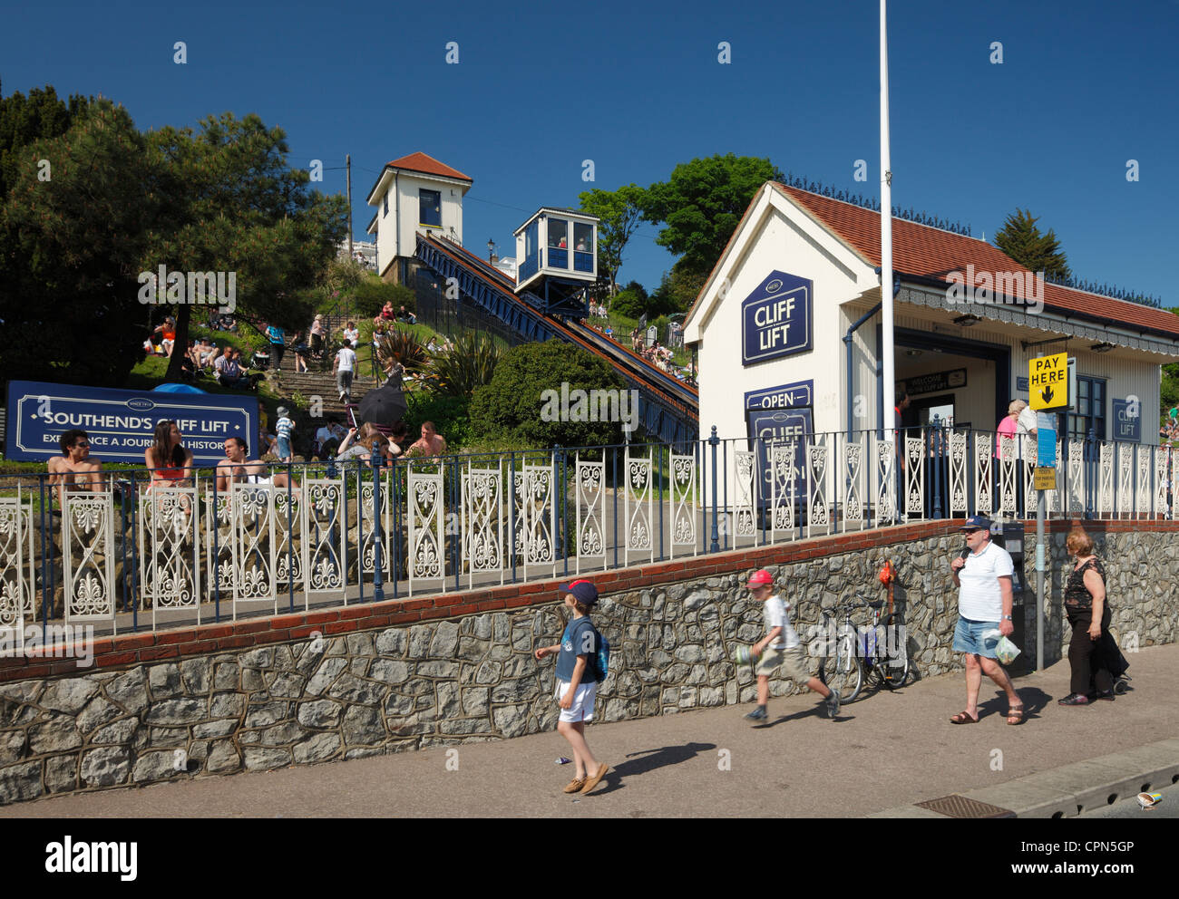 Southend on sea, Cliff lift. - Stock Image