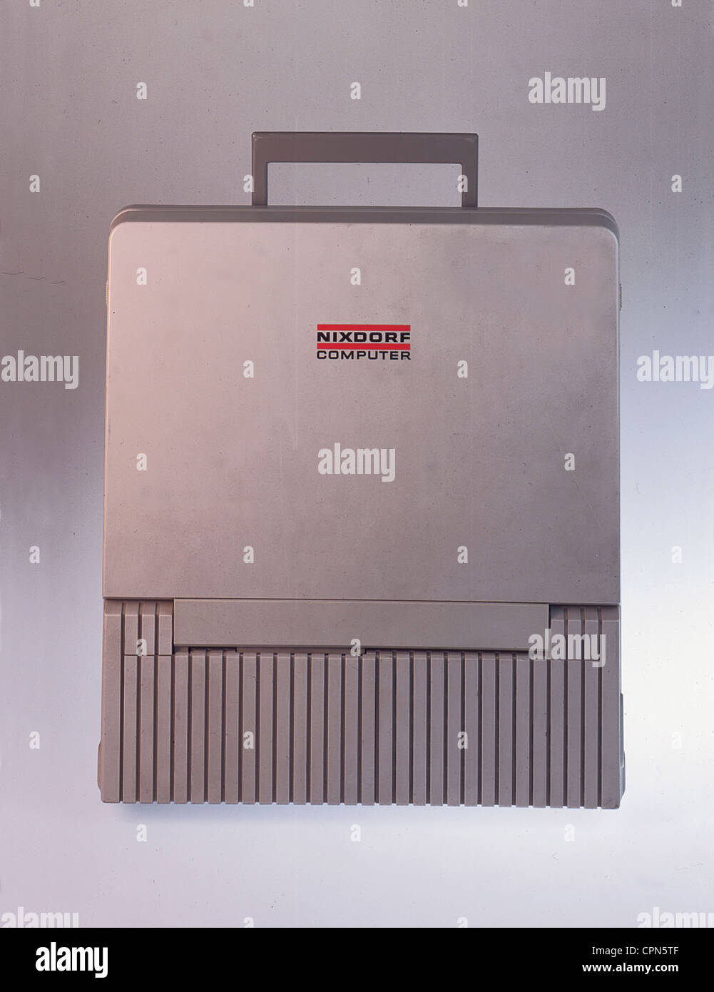 computing / electronics, computer, early laptop, Siemens Nixdorf Computer, Paderborn, Made in Japan, 1987, Additional - Stock Image