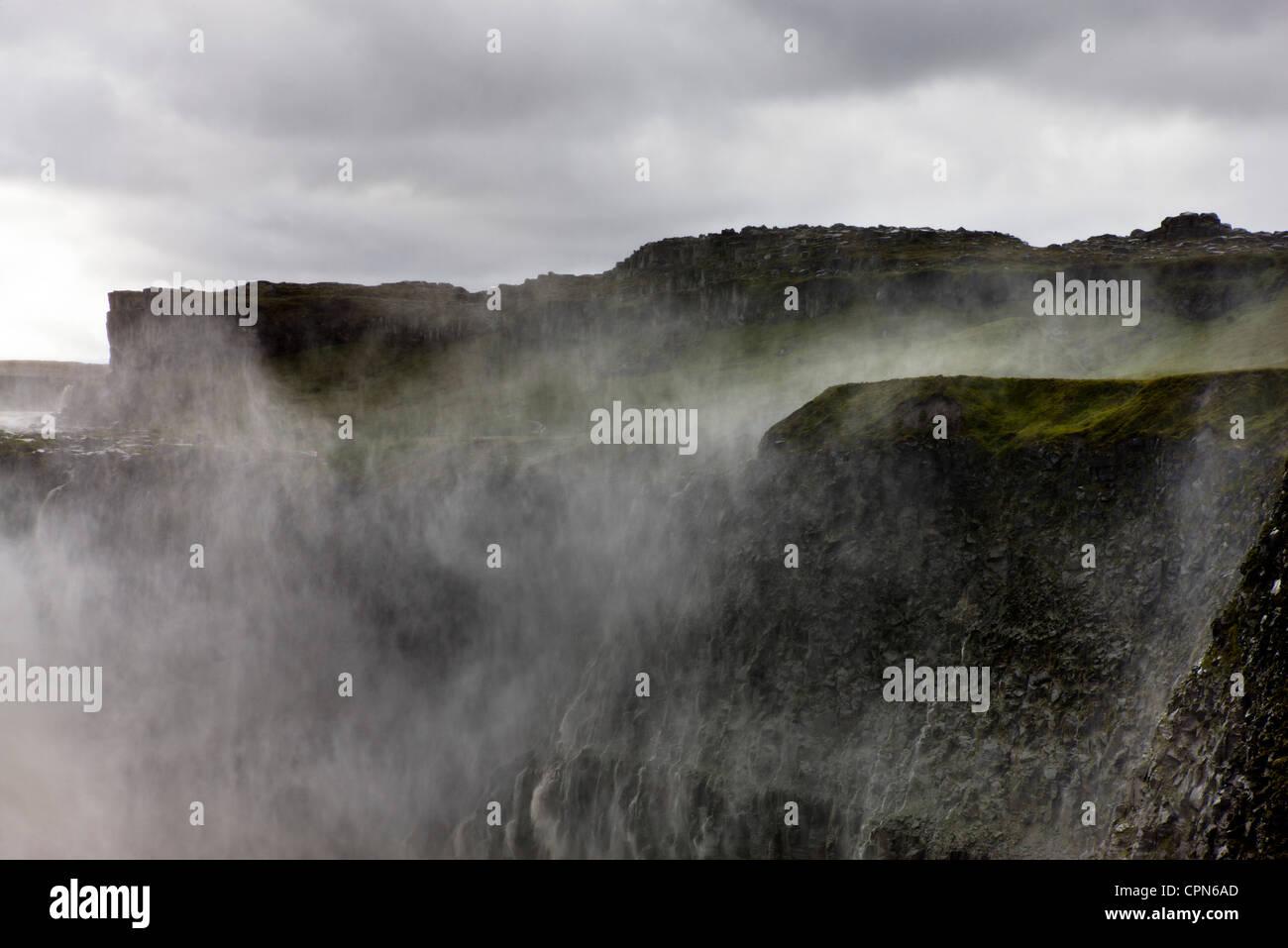 Dettifoss waterfall, Vatnajokull National Park, Iceland - Stock Image