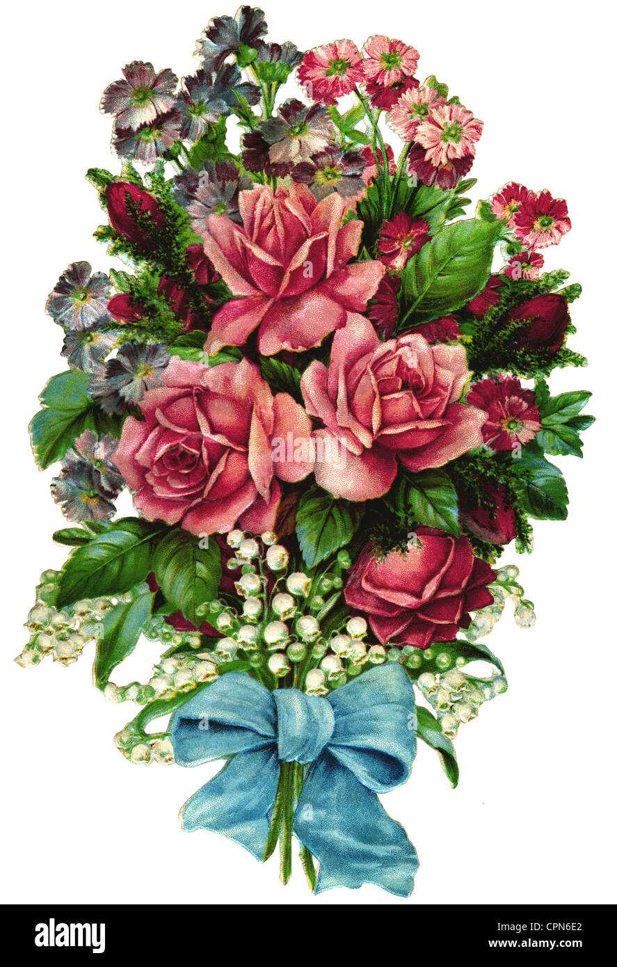 Kitsch souvenir flower bouquet bouquet of roses scrap picture kitsch souvenir flower bouquet bouquet of roses scrap picture germany 1894 flower rose red white pink roses bouquet izmirmasajfo