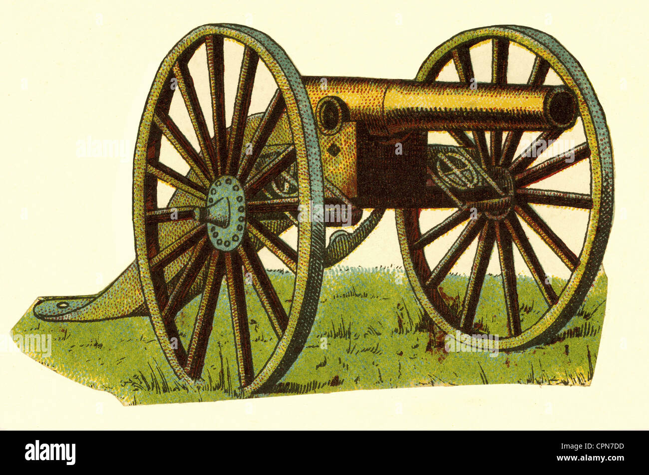 military, artillery, cannon, Germany, circa 1878, Additional-Rights-Clearences-NA - Stock Image