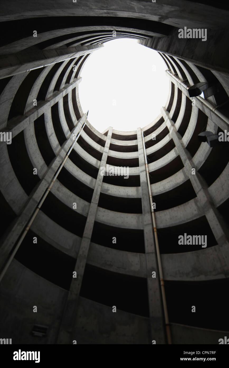 Atrium, low angle view - Stock Image