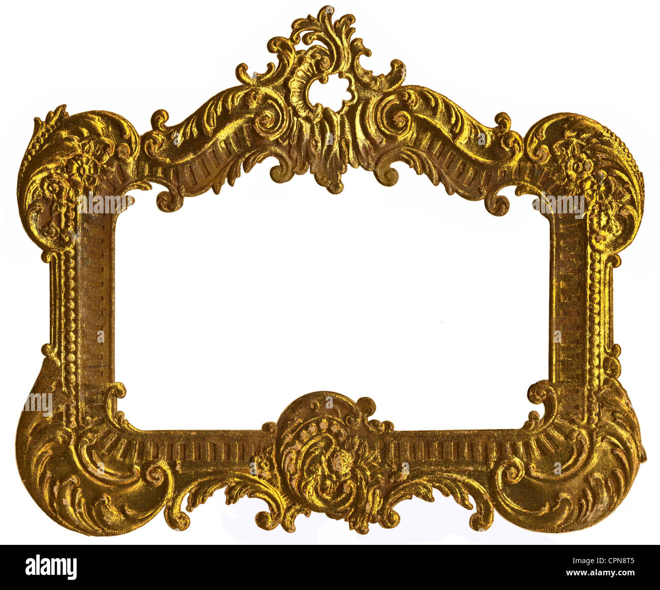 fine arts, picture frame, golden picture frame, cardboard, embossing ...