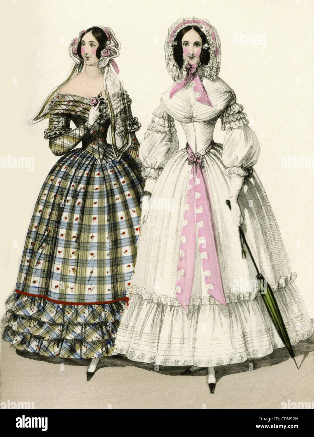 Fashion, Ladies' Fashion, Biedermeier, Two Women