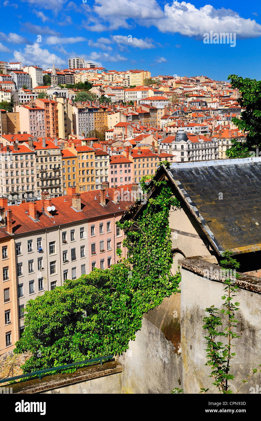 part of the city of Lyon, France - Stock Image